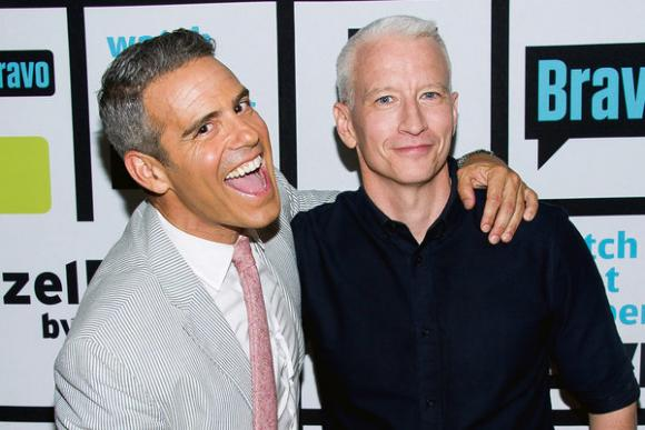 Anderson Cooper & Andy Cohen at Academy of Music