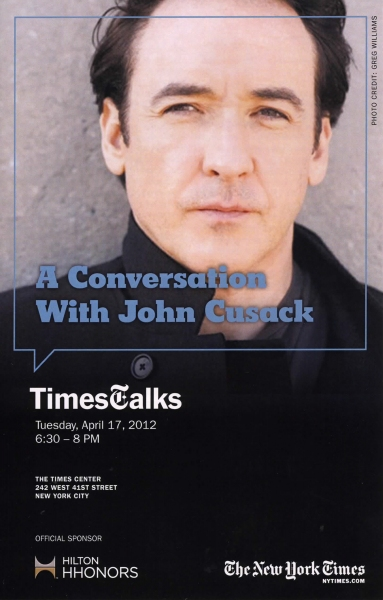 John Cusack at Academy of Music